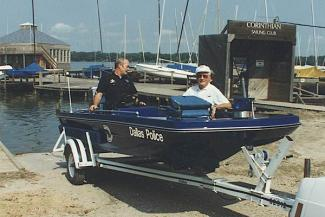 Police boat launch
