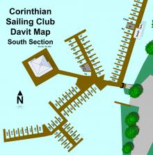 CSC South Davit Map